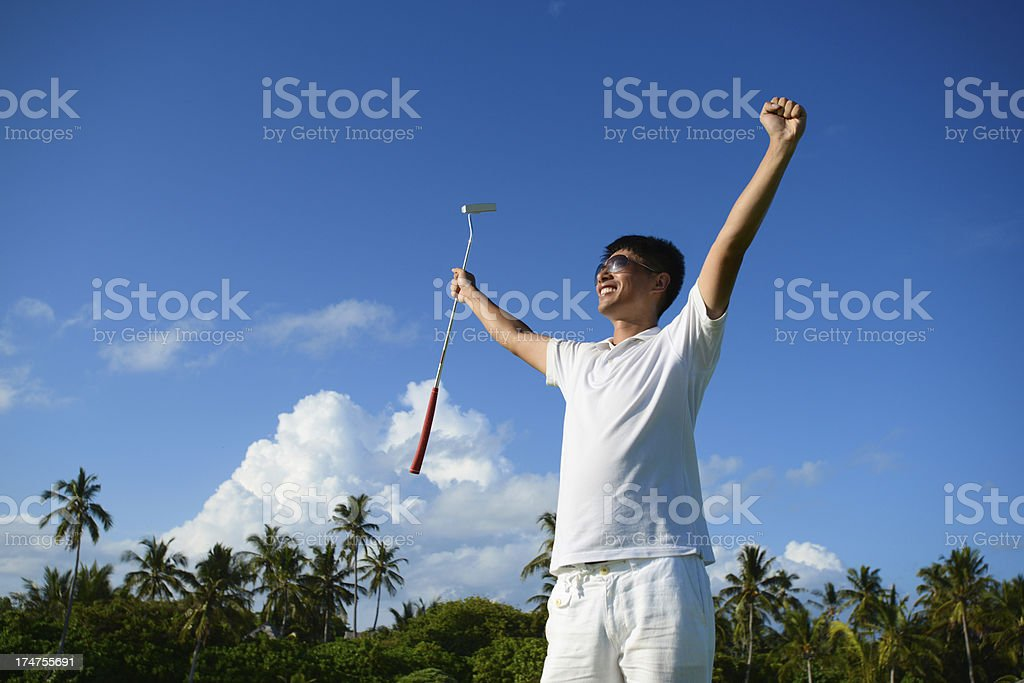 Golf Winner stock photo