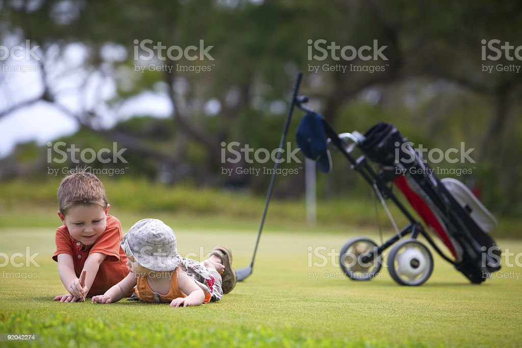 Golf with Kids stock photo