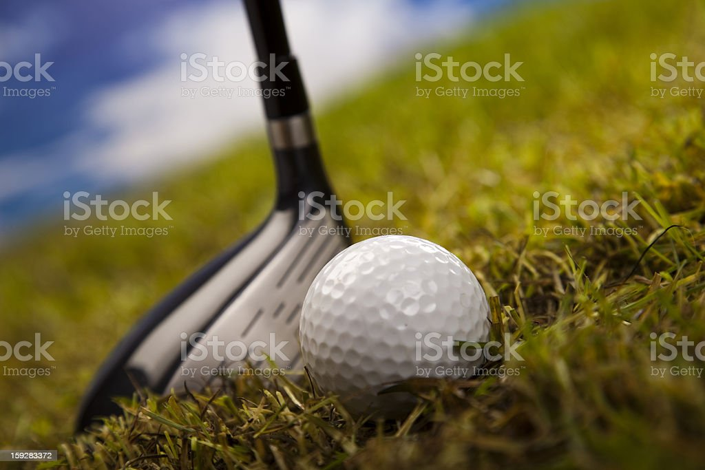 Golfball, Golf royalty-free stock photo