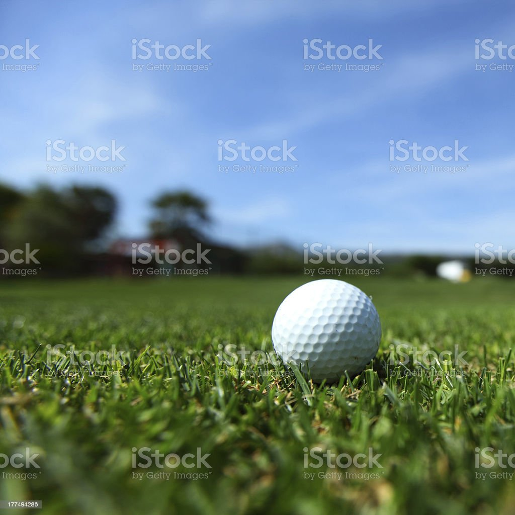 golf-ball on course royalty-free stock photo