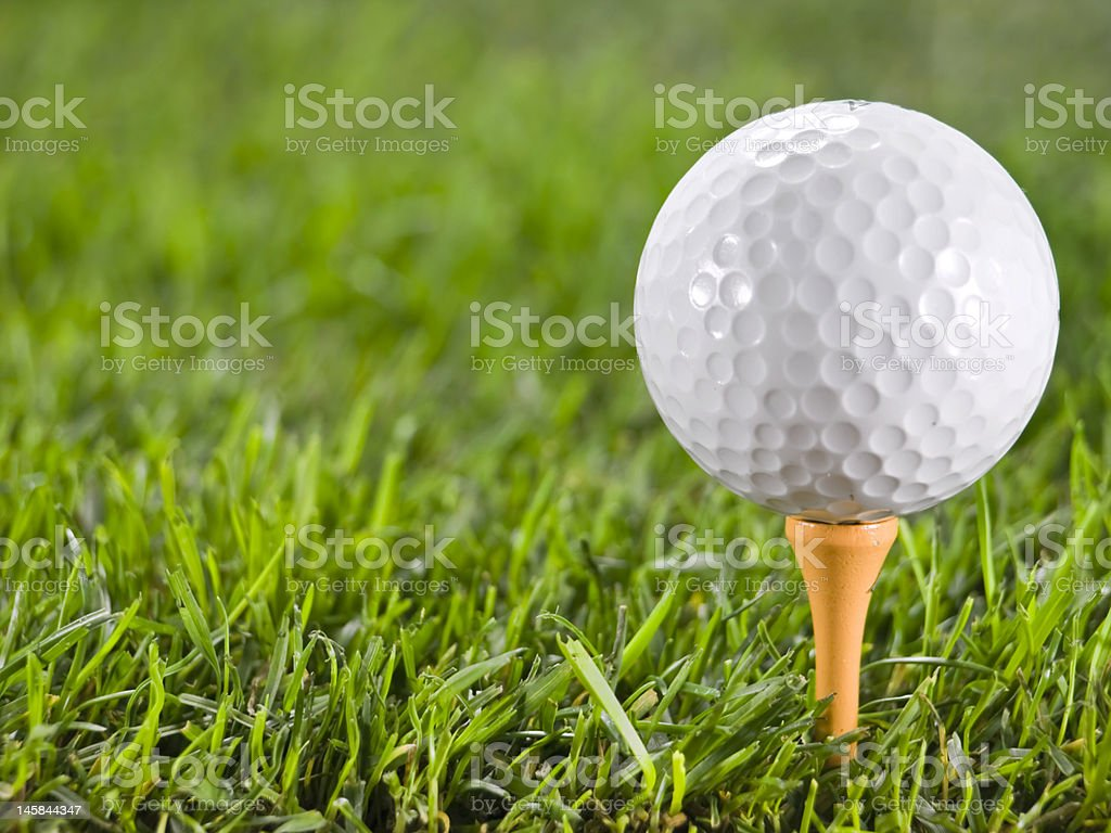 Golfball on the grass. royalty-free stock photo