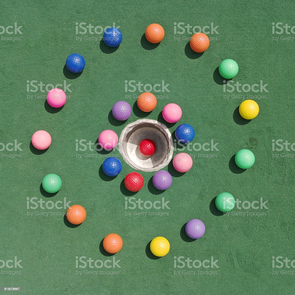 Golfballs In Circle royalty-free stock photo