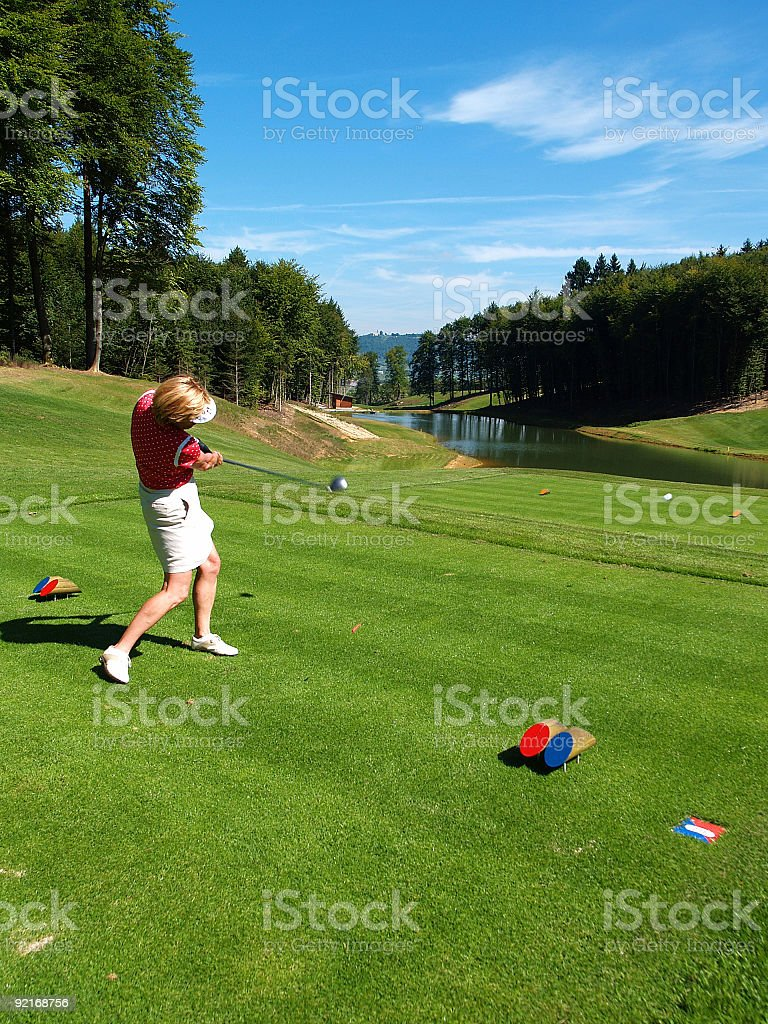 Golfcourse royalty-free stock photo