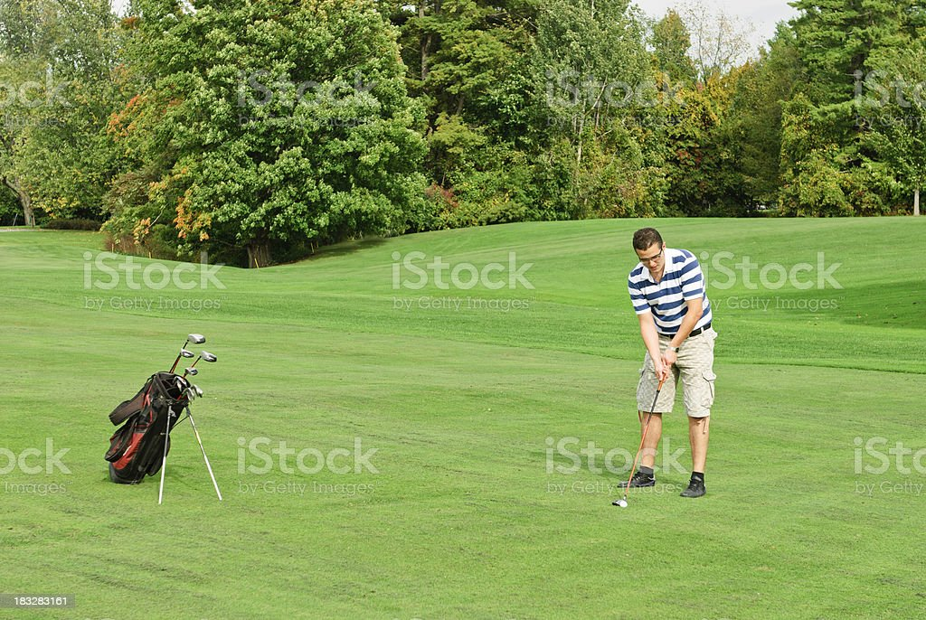 golfer at work royalty-free stock photo