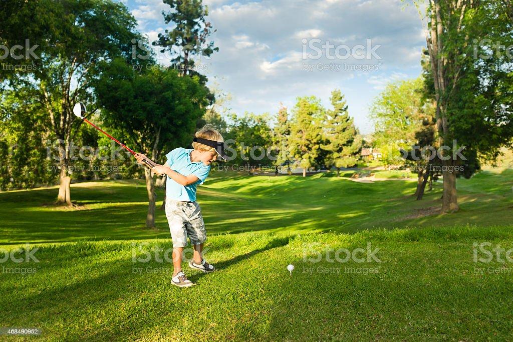 Golfer Boy stock photo