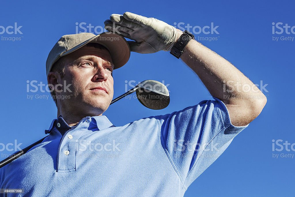 Golfer Closeup stock photo