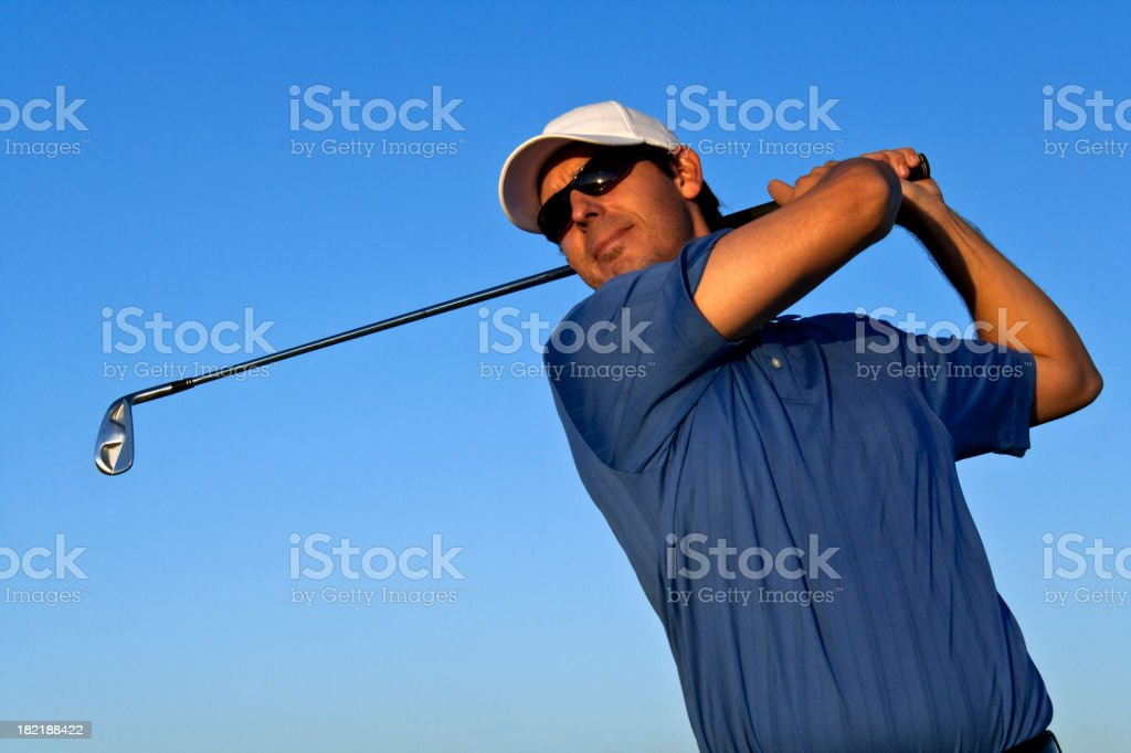Golfer Concentration royalty-free stock photo