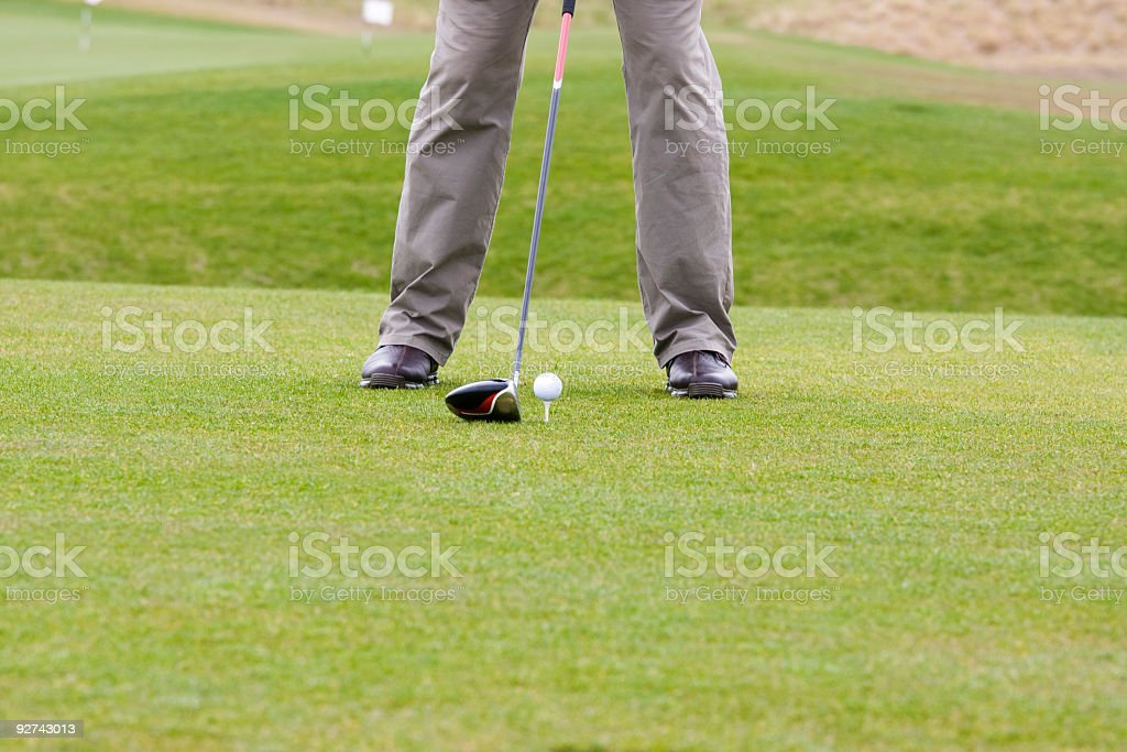 Golfer Concentration stock photo