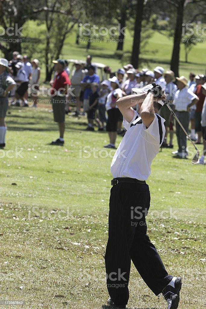 Golfer Drive royalty-free stock photo