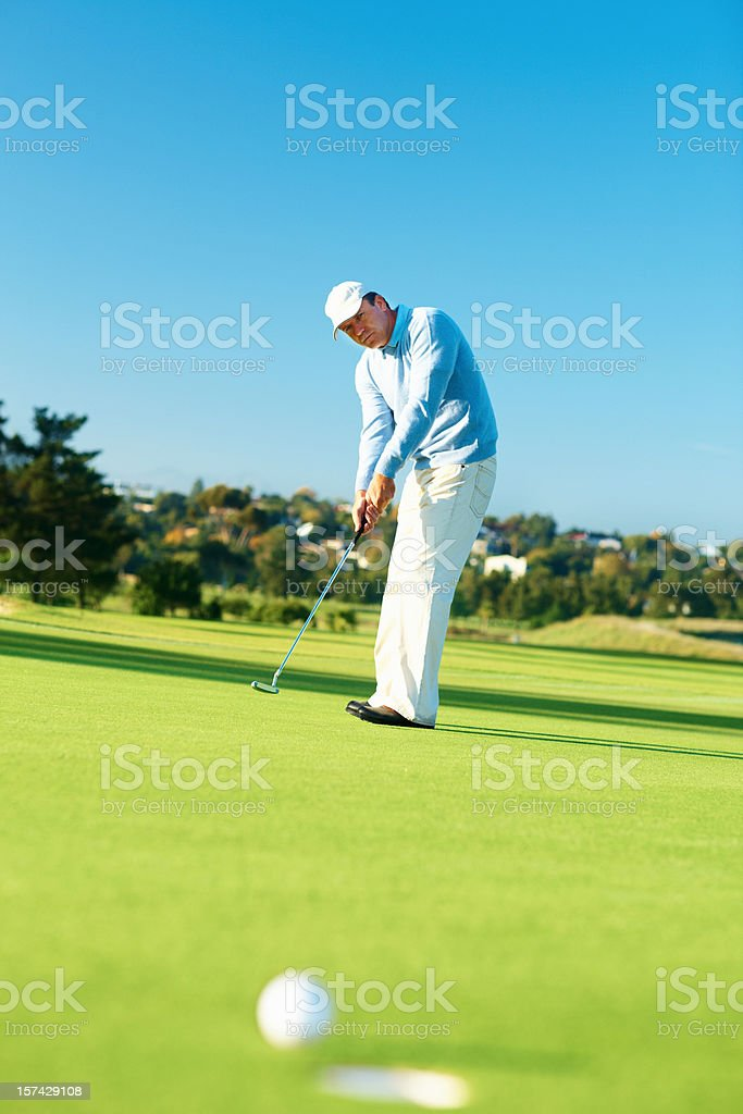Golfer during a game of golf royalty-free stock photo