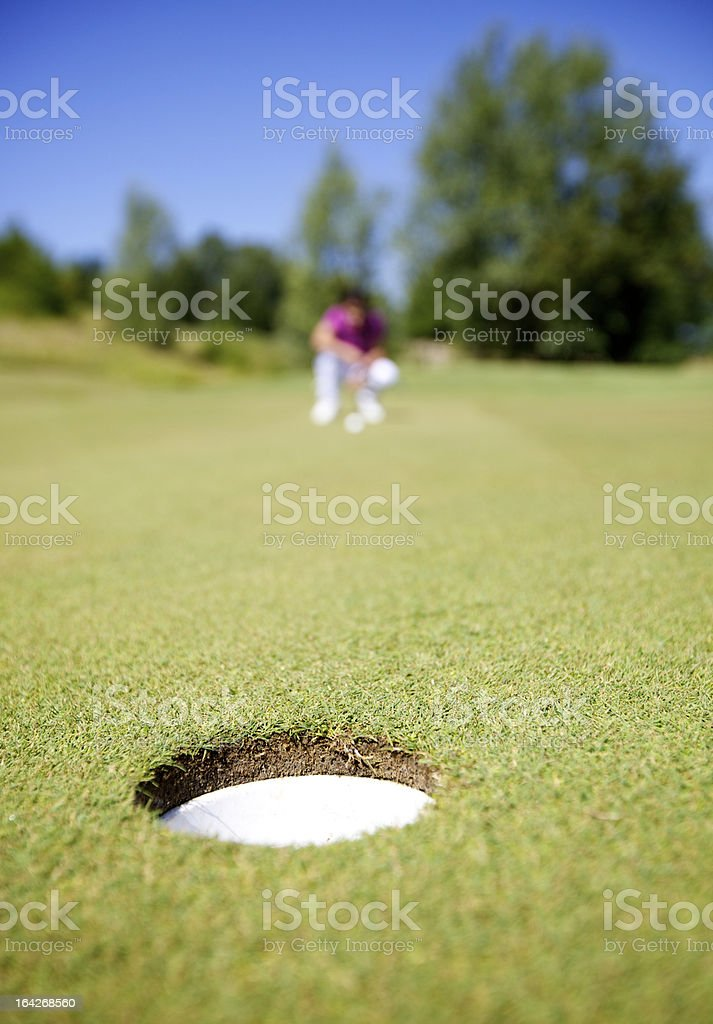 Golfer During A Game royalty-free stock photo