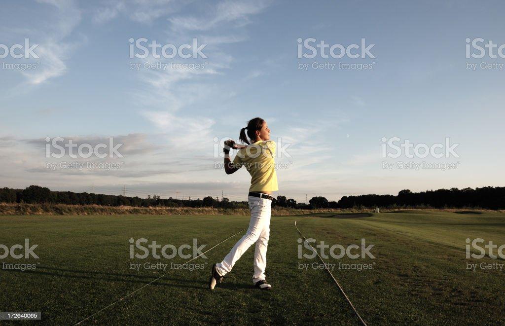 golfer girl royalty-free stock photo
