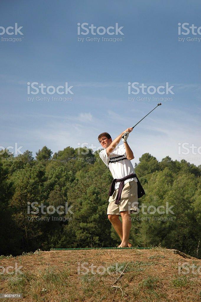 golfer golfing stock photo