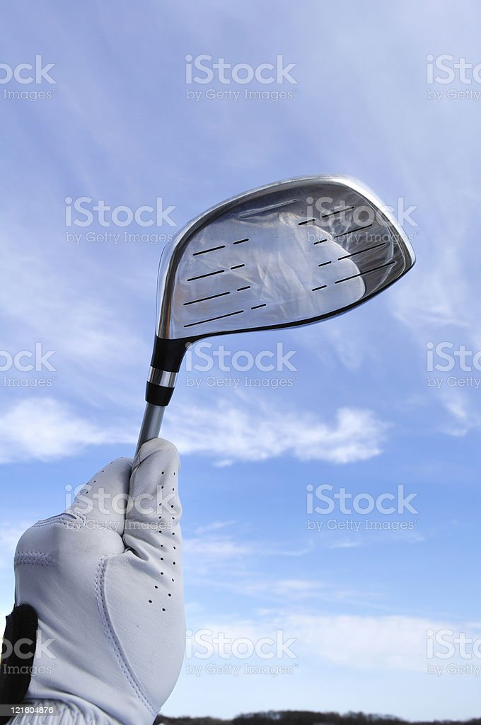Golfer Holding a Metal Driver royalty-free stock photo