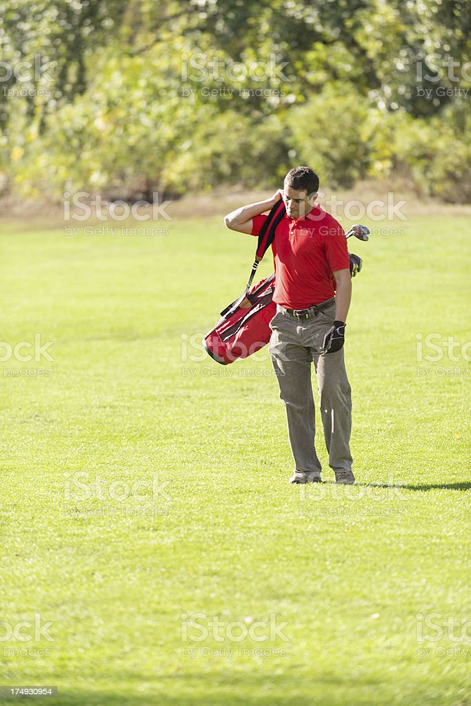 Golfer in sunlight royalty-free stock photo