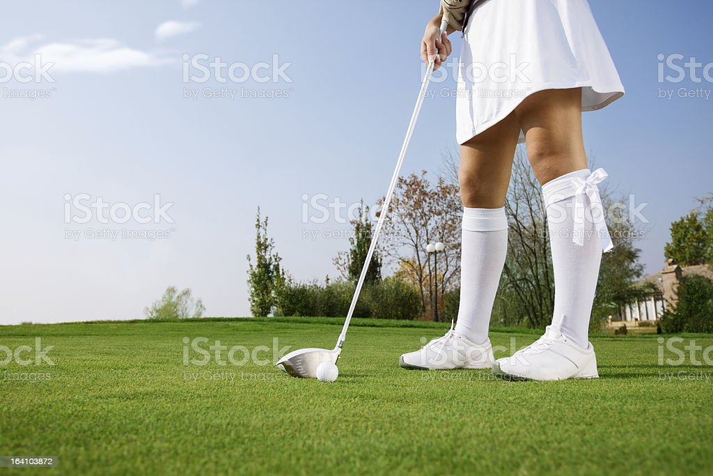 golfer on golf course royalty-free stock photo