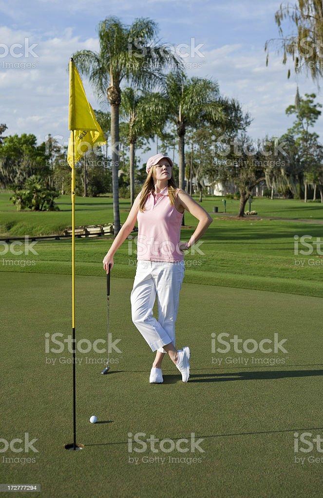 Golfer stock photo
