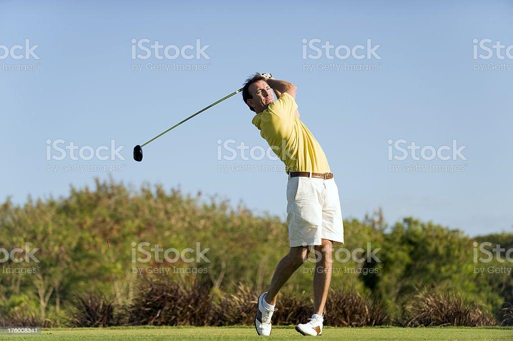 Golfer royalty-free stock photo