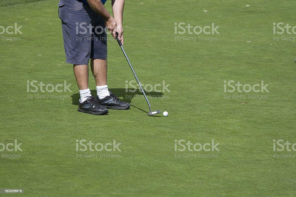 Golfer playing royalty-free stock photo