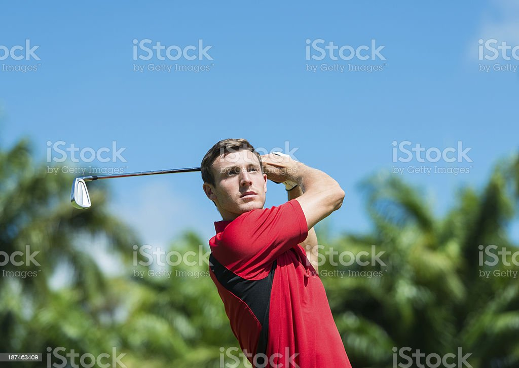 Golfer Playing Shot royalty-free stock photo