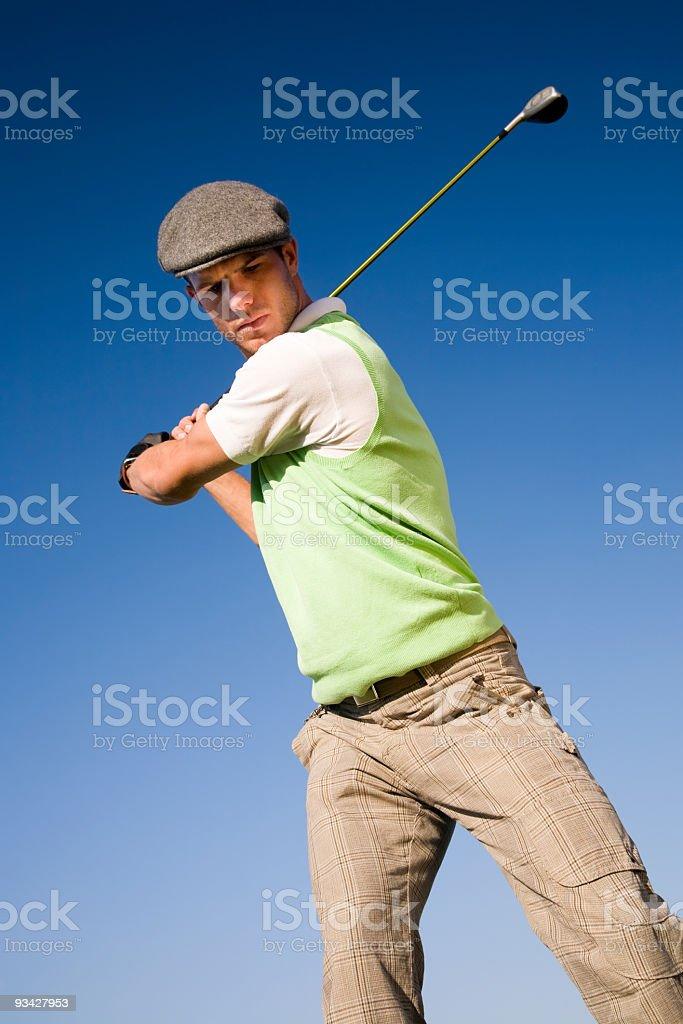 Golfer Portrait stock photo