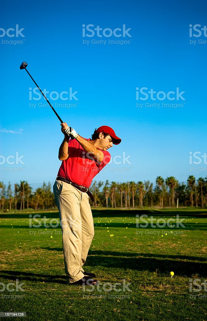 golfer practicing royalty-free stock photo