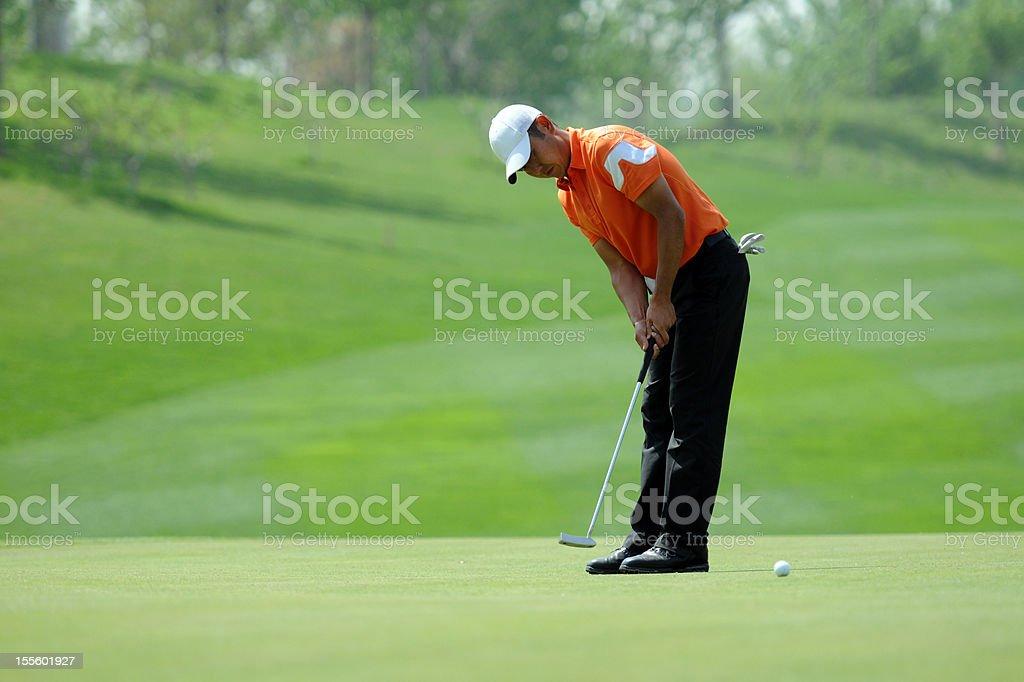 Golfer Putting - XLarge stock photo