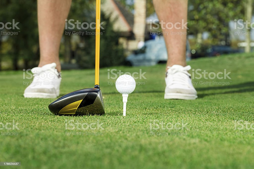 golfer ready to tee off royalty-free stock photo