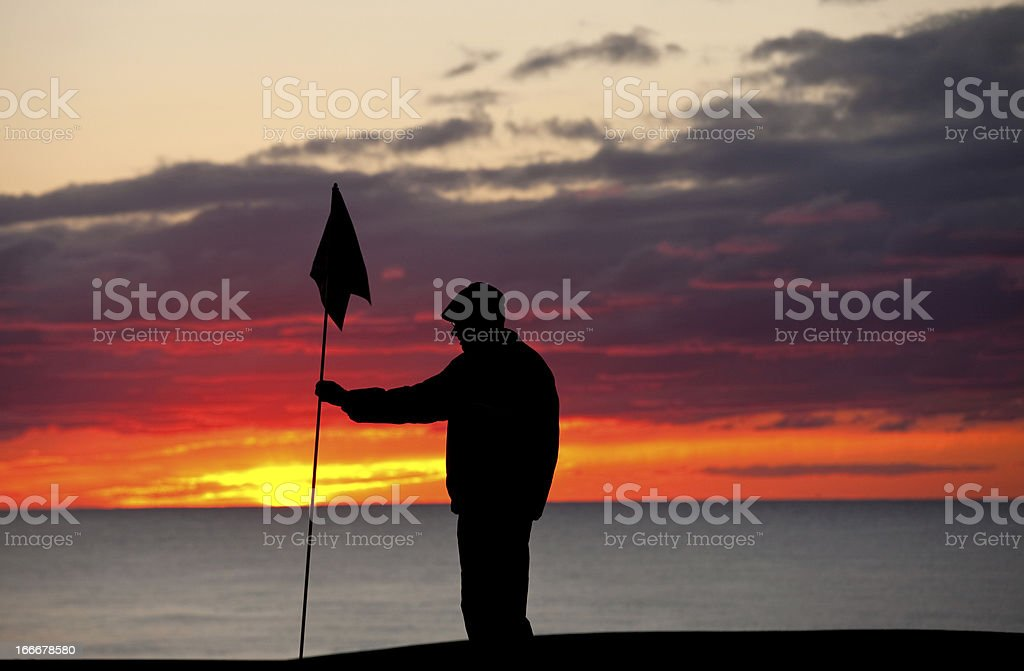 Golfer Silhouette stock photo