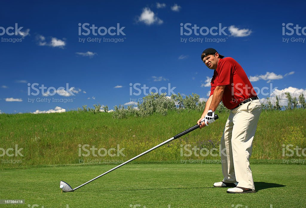 Golfer With an Oversize Driver royalty-free stock photo