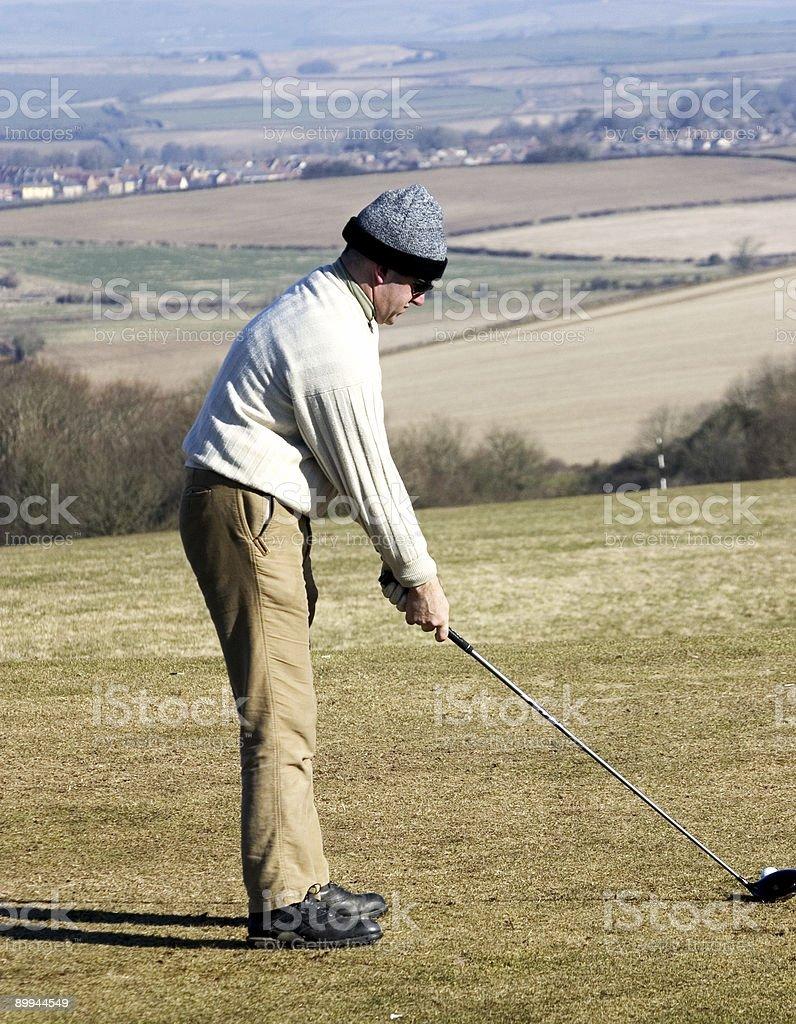 Golfer2 stock photo