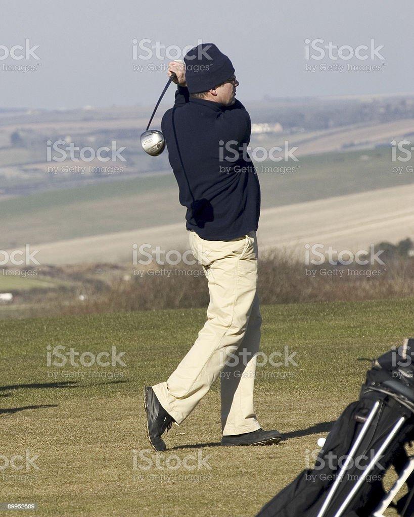 Golfer3 stock photo