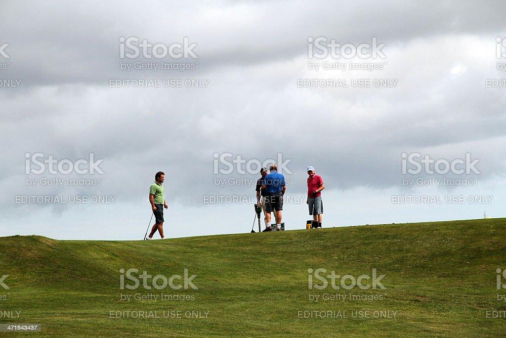Golfisti a Devon, Regno Unito foto stock royalty-free