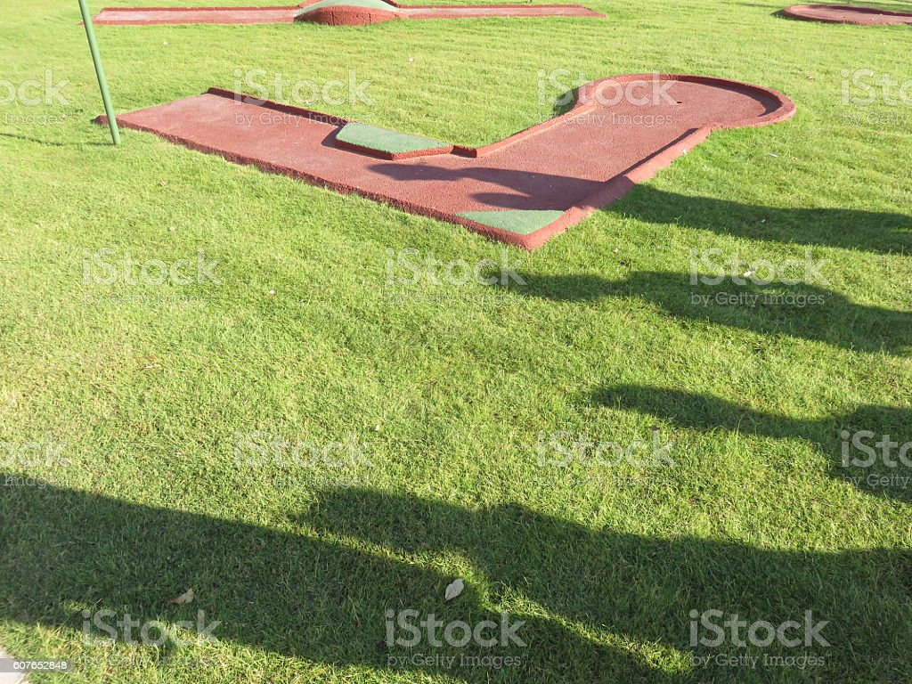 Golfers Shadow stock photo