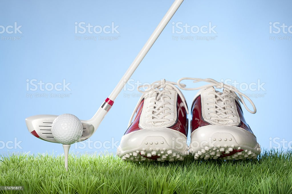 Golfing concept series - Golf Shoes stock photo