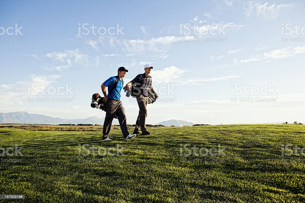 Golfing Duo royalty-free stock photo