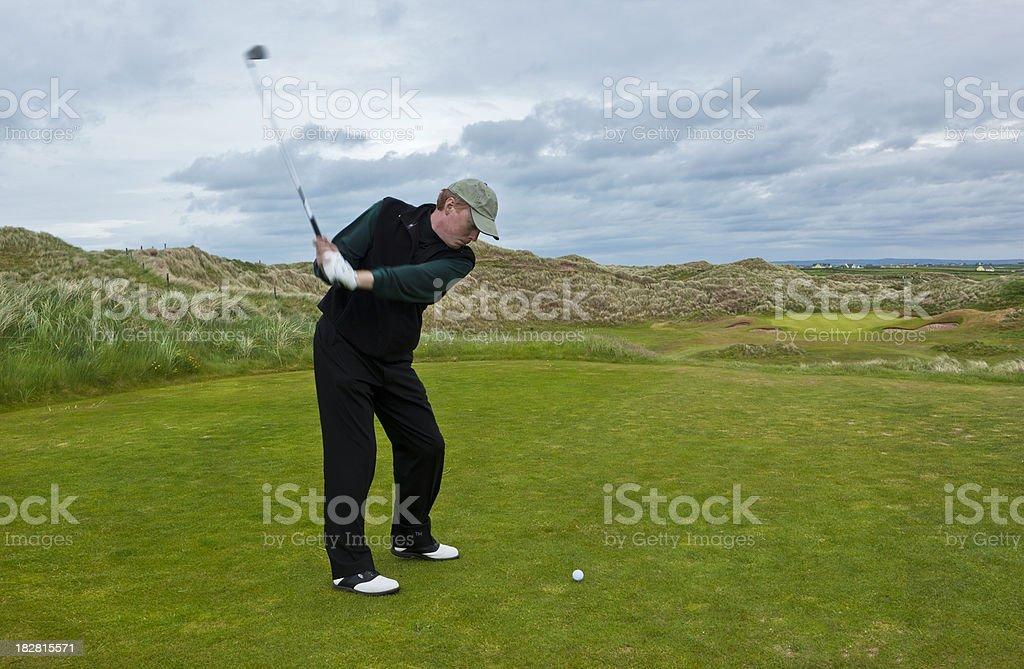 Golfing in Ireland royalty-free stock photo