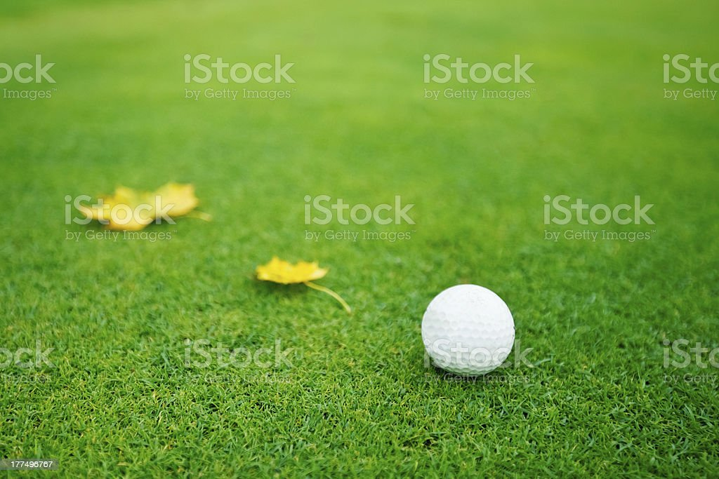 Golfing in the Fall. royalty-free stock photo