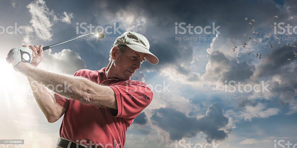 Golfing In The Sun stock photo