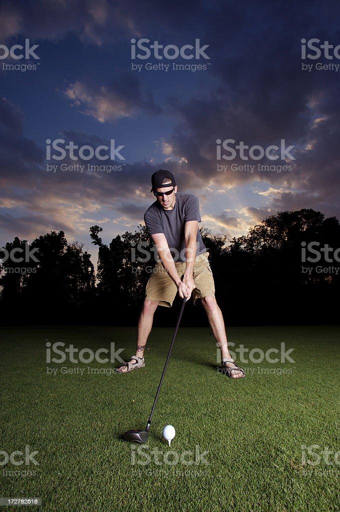 Golfing intensity royalty-free stock photo