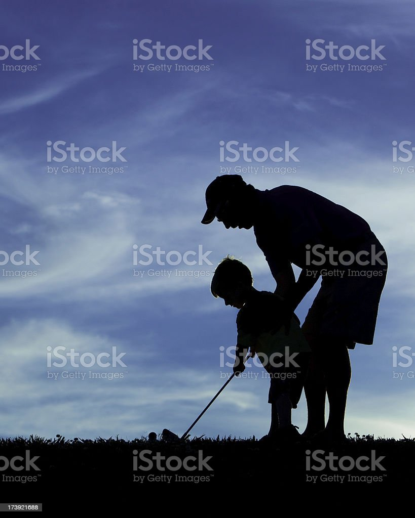 Golfing Just Like Daddy royalty-free stock photo