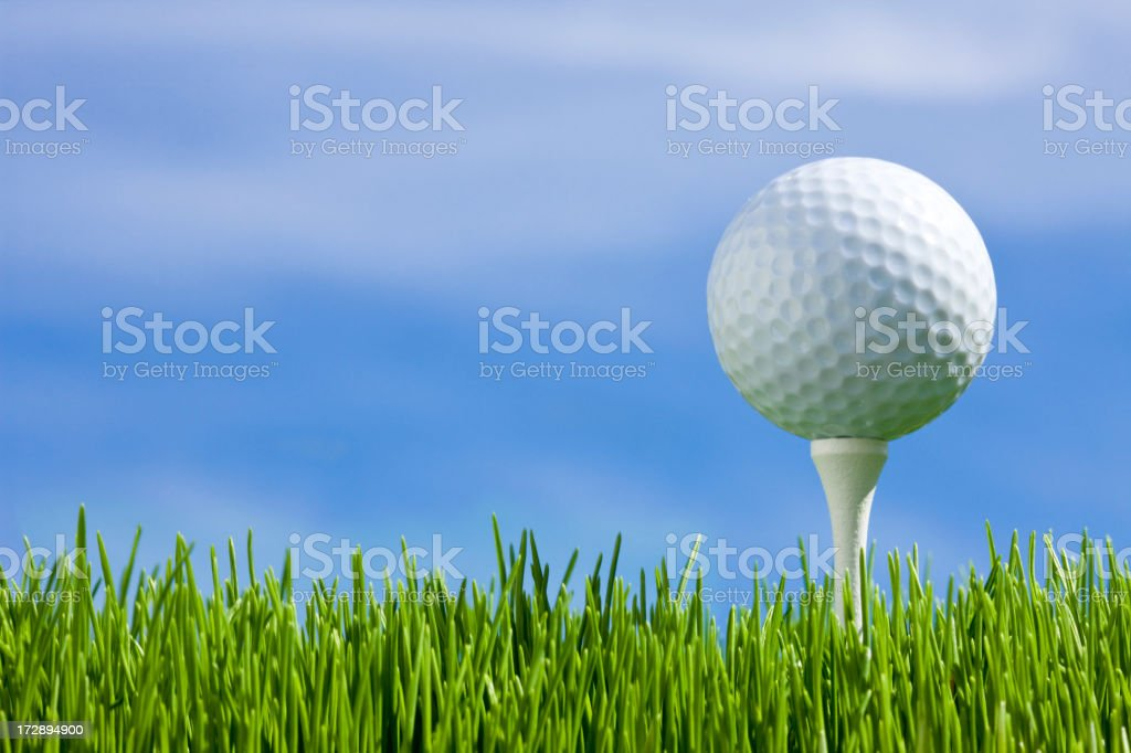 Golfing (XXL) stock photo