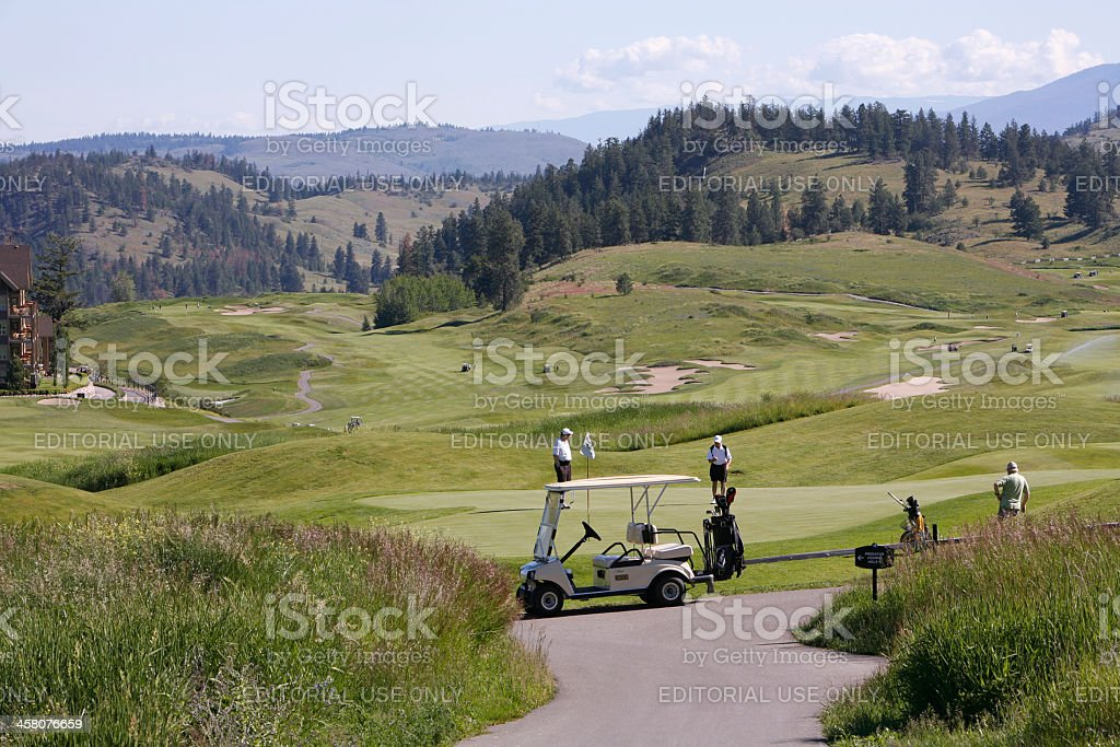 Golfing Predator Ridge Vernon British Columbia Canada stock photo