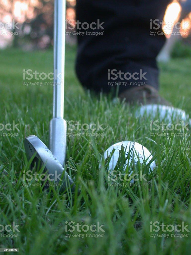 Golfing2 royalty-free stock photo