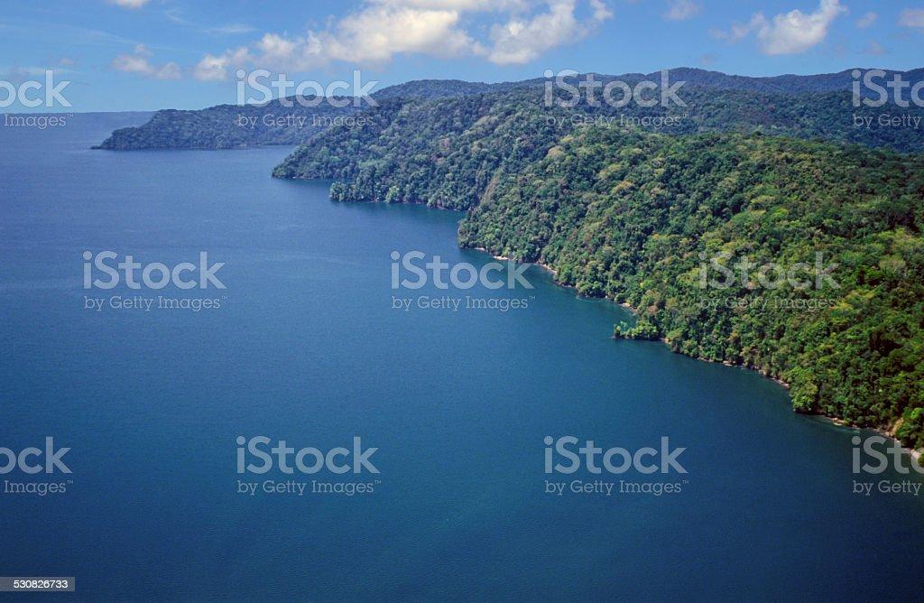 Golfo Dulce Aerial stock photo