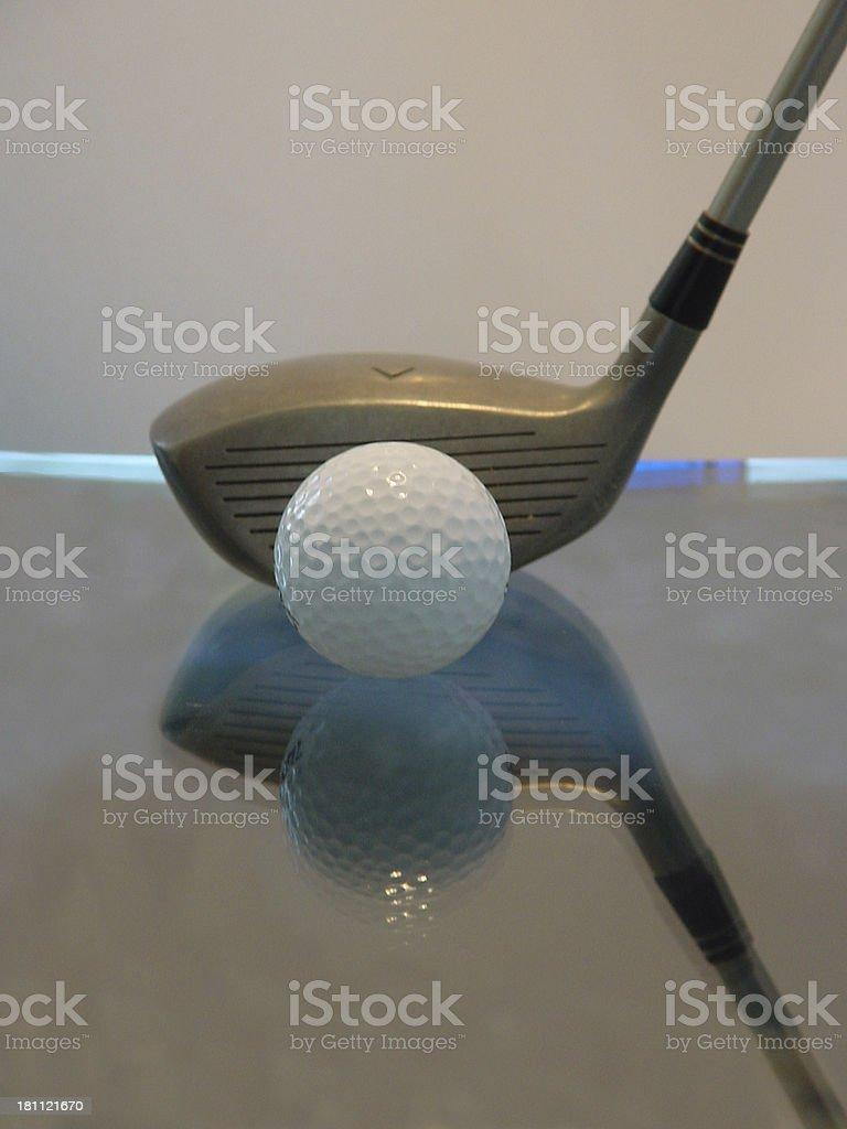 golf-reflection royalty-free stock photo