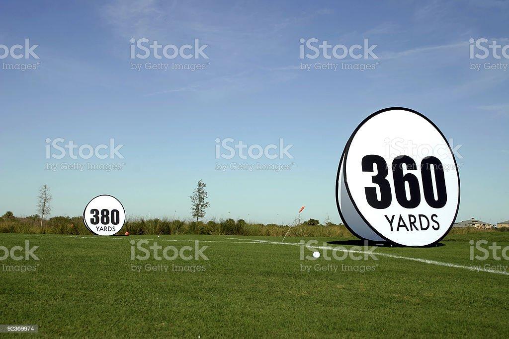 Concours de Golf de Long Drive photo libre de droits