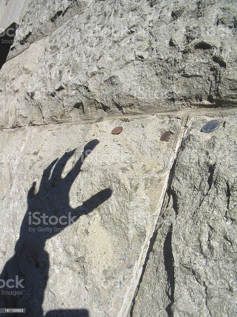 Gollum's hand shadow (Greed) stock photo