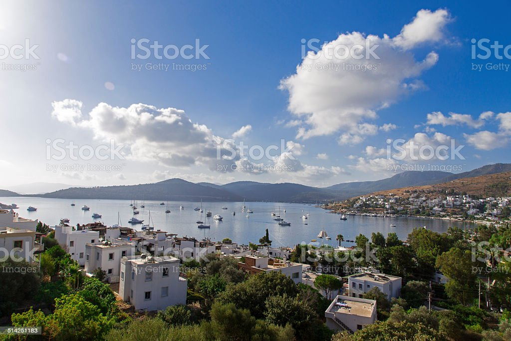 Golturkbuku bay view, Bodrum, Turkey, 2014 stock photo