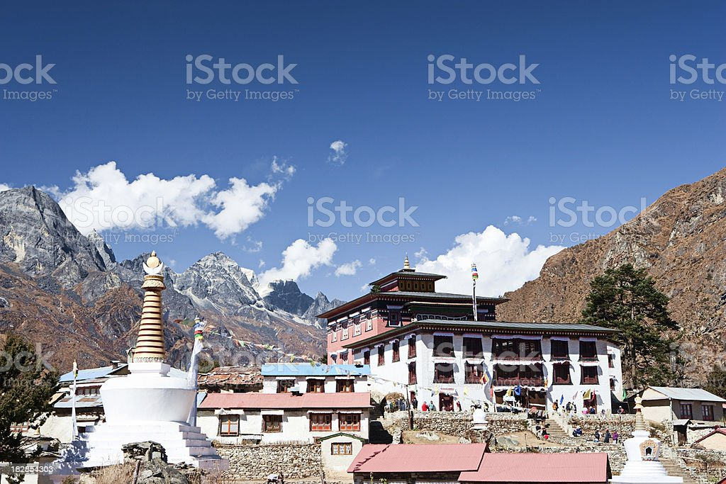 Gompa in Tengboche royalty-free stock photo